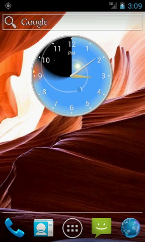 Phone Screen Shot: Clock Widget